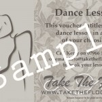 Dance lesson vouchers!