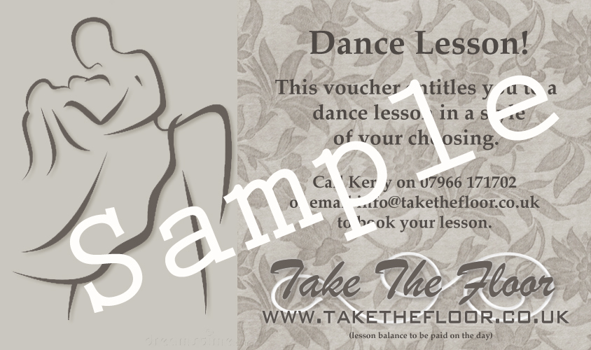 dance lesson gift voucher